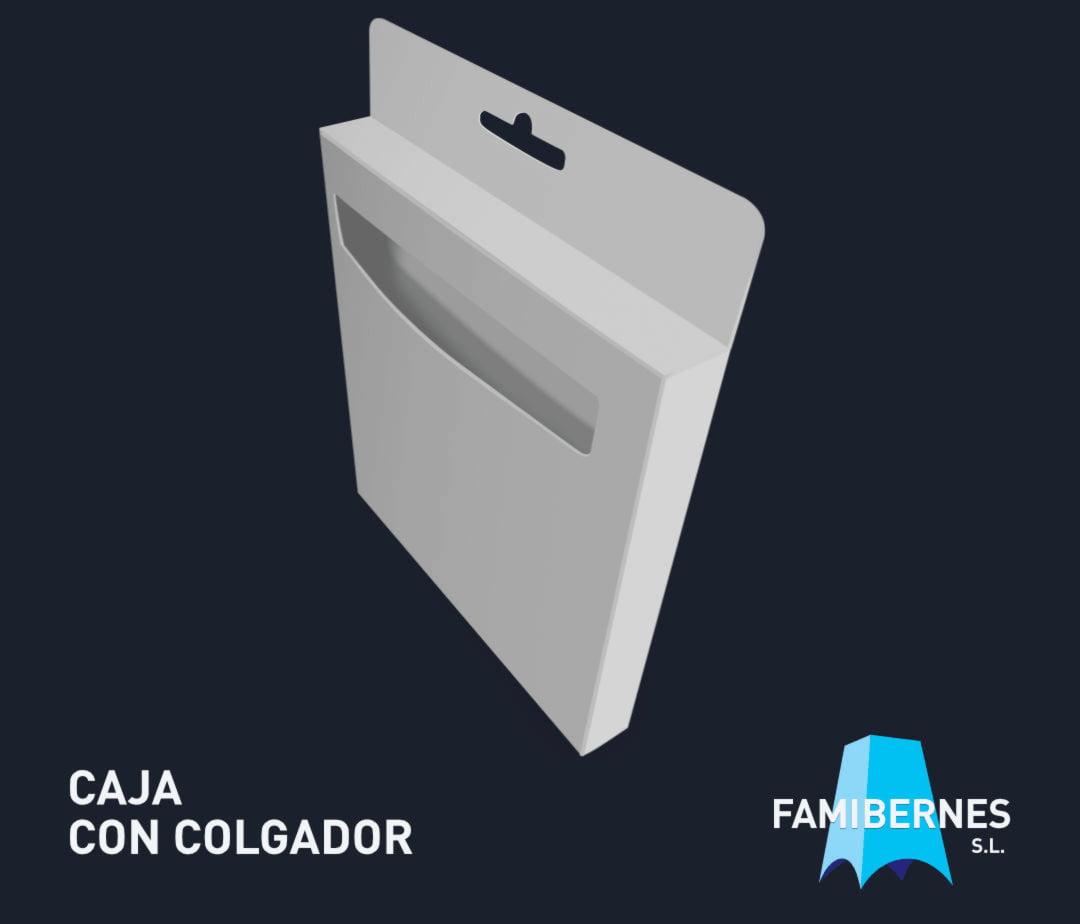 Caja Lineal con Colgador y Ventana
